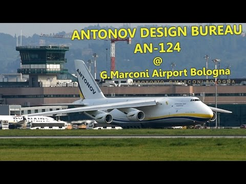 Antonov Design Bureau AN-124 Landing & Takeoff @ Bologna G.Marconi Int. Airport