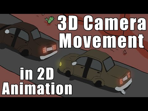 3D Camera Movement in 2D Animation