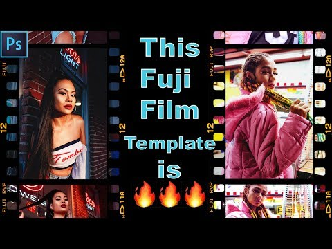 How To Add The Fuji Film Template To Your Photos! + 2 Free Template Downloads