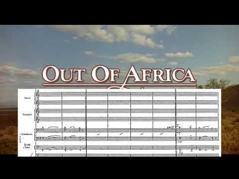 """Out Of Africa: """"Main Title"""" with brass sheet music"""