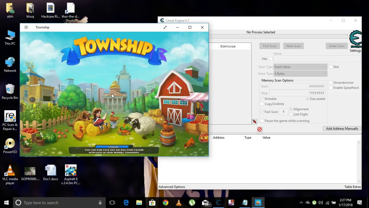 How to hack township latest version in windows 10 pc