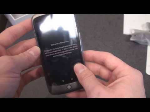 Google Nexus One Unboxing