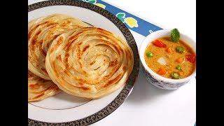 How to make easy parotta at home   Home made Parotta