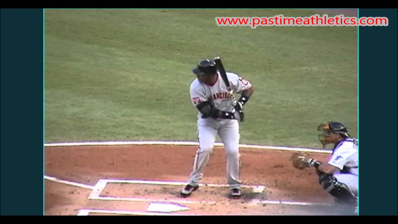 Barry Bonds Slow Motion Baseball Swing Hitting Mechanics