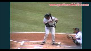 Barry Bonds Slow Motion Baseball Swing - Hitting Mechanics Instruction San Francisco Giants Mlb