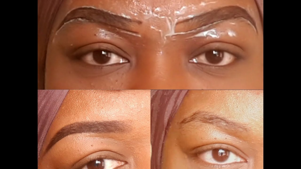 Easy Brow Cleaning Using Hair Removal Cream Beautybyraz Youtube