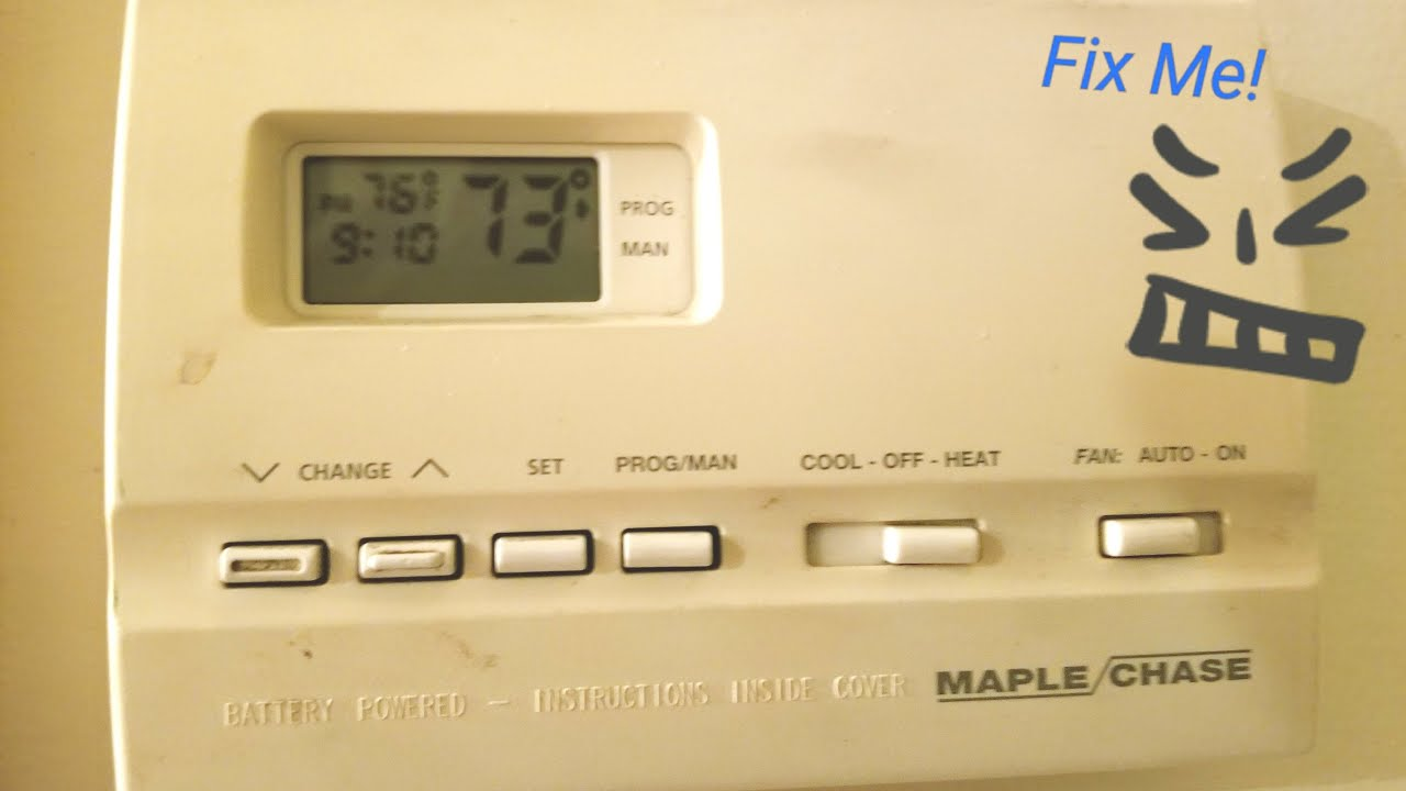 Maple Chase 9600 aka Robertshaw 9600 Thermostat Quick Fix DIY - YouTubeYouTube