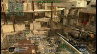 Call of Duty 4 INSANE 360 Airbourne Collateral Noscope Rape Shot!!!!