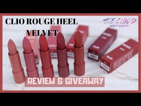 clio-rouge-heel-velvet-lipstick-swatch-&-review-|-giveaway