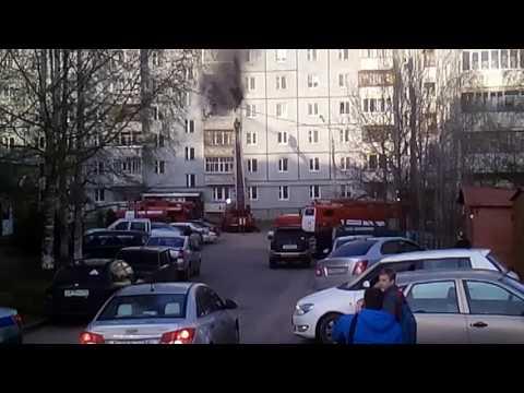 Сыктывкар Орбита Тентюковская 85 31.05.2017. Пожар...