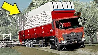 Jalur Alternatif  Sopir Truck Hino Berusaha Keras#EuroTruckSimulator2 Bantuan Beras Untuk Palu