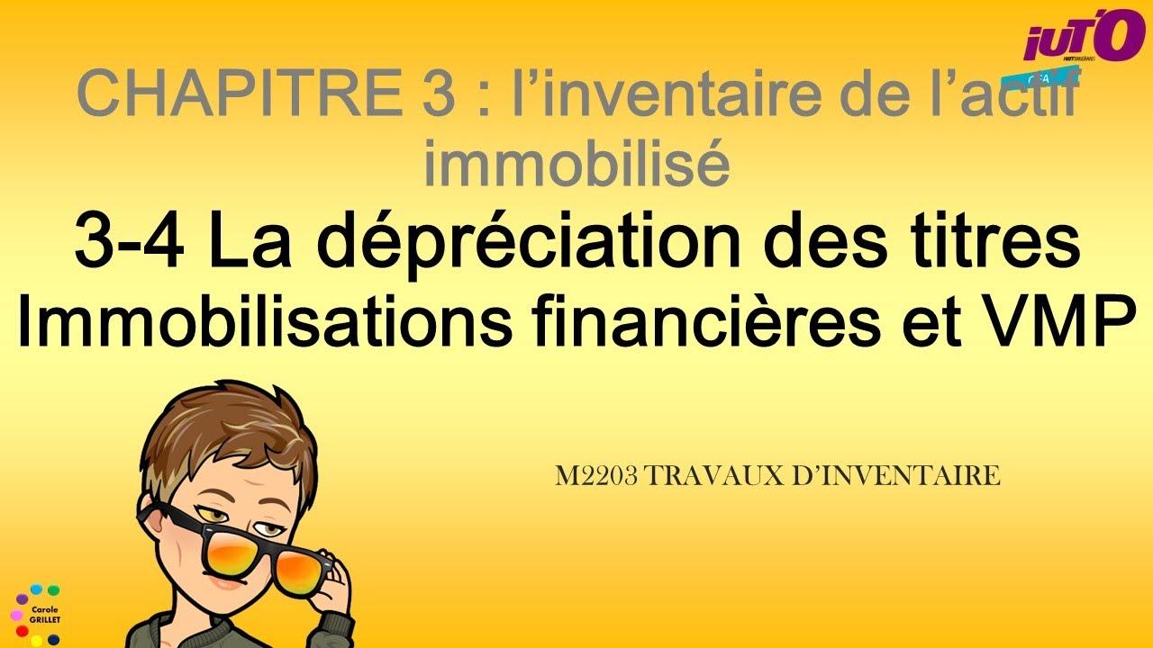 Download La dépréciation des titres immobilisés et VMP