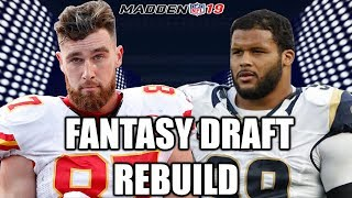 Drafting Aaron Donald! -  Madden 19 Connected Franchise Fantasy Draft Rebuild