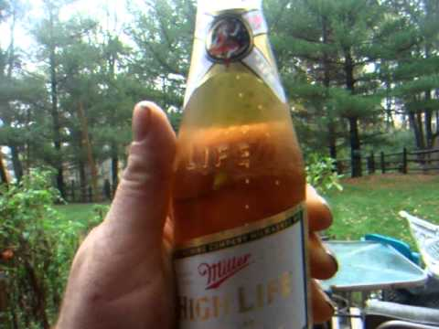 Miller High Life long Neck Bottle Chug, drinking in the rain storm + Forum updates