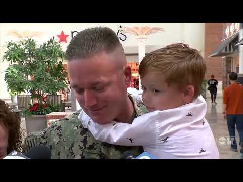 Katie Sommers - Florida Mall Santa Brings Dad Home From Deployment For Two Young Sons