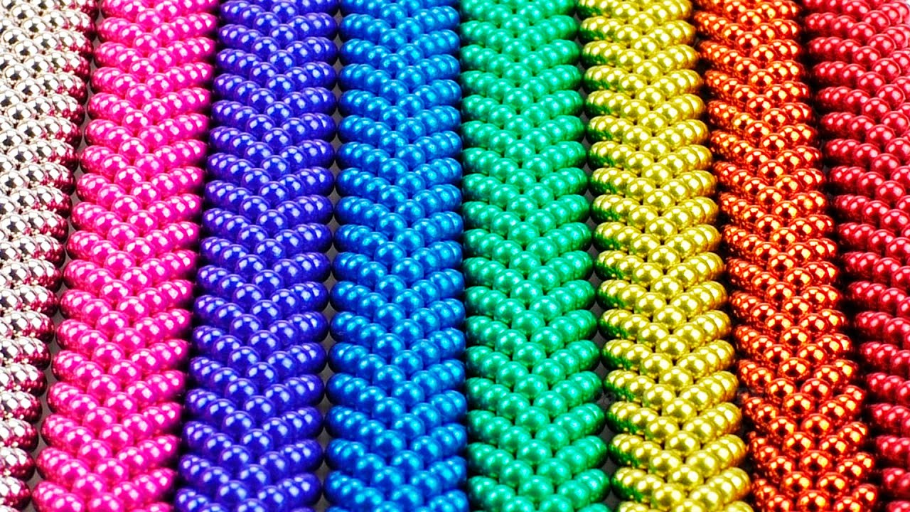 Playing with 1000 mini magnetic balls | DIY - How To Build shapes with colors  magnetic balls