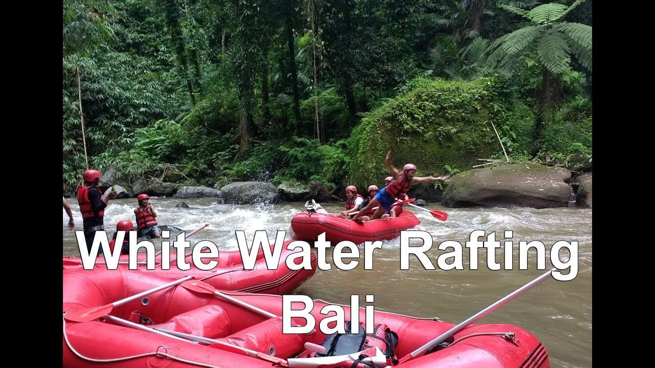 White Water Rafting Adventure At Ayung River Bali Youtube