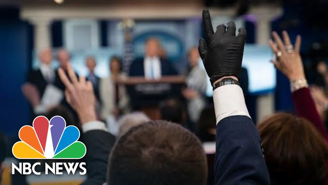 Image result for Trump, White House Coronavirus Task Force Hold News Conference   NBC News