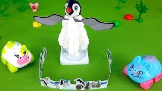 Видео для детей. Пингвин из кристаллов
