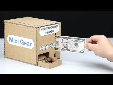 Wow! Amazing DIY Money Exchange Machine