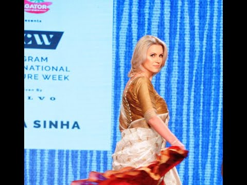 Anca Verma walked as the showstopperat the Gurugram International Couture Fashion Week