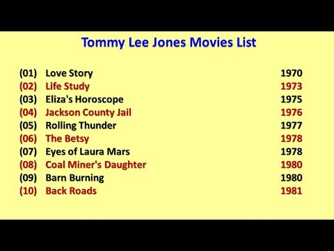 Tommy Lee Jones Movies List