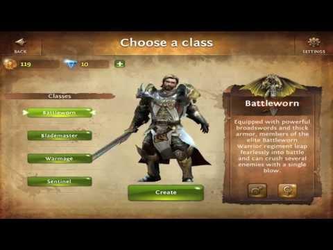 Battleworn class for dungeon hunter 4 ipad app youtube