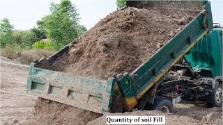 How to calculate the quantity of soil fill required for plots