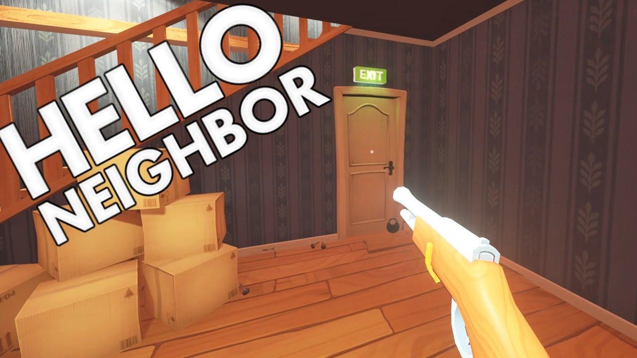 Hello Neighbour Secret Gun Ending And Burning Bear