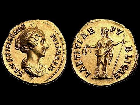 🔝 Аурей, 147 г. - 148 г., Монета, Римская Империя, АНТОНИН ПИЙ, 🌍 Aurey, 147 - 148 AD ✅