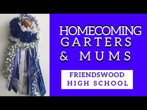 friendswood-homecoming-mums-|-blue-and-white-garters-for-high-school-football-games