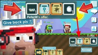 BLIND TRADE with PETERW!! GOT RAYMAN FIST & RARES | Growtopia