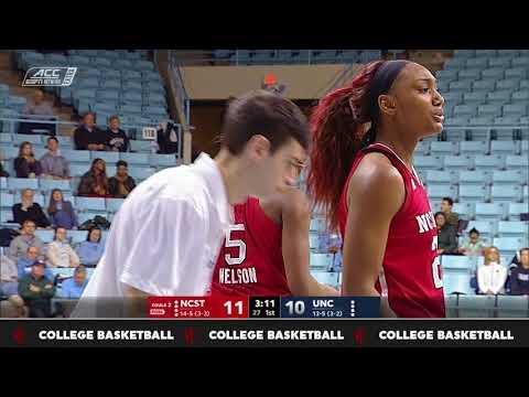 2018.01.18 NC State Wolfpack at North Carolina Tar Heels Women's Basketball