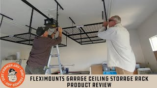 fleximounts garage ceiling storage rack product review