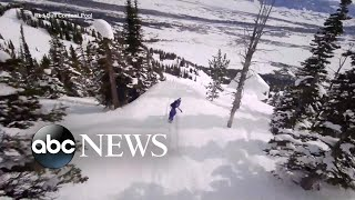 Snowboarding event goes back to nature