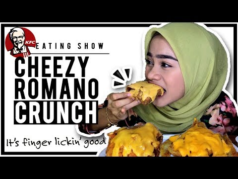 KFC CHEEZY ROMANO CRUNCH! LESS TALKING | EATING SHOW 🍗