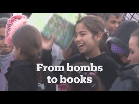 Temporary school for Mosul children
