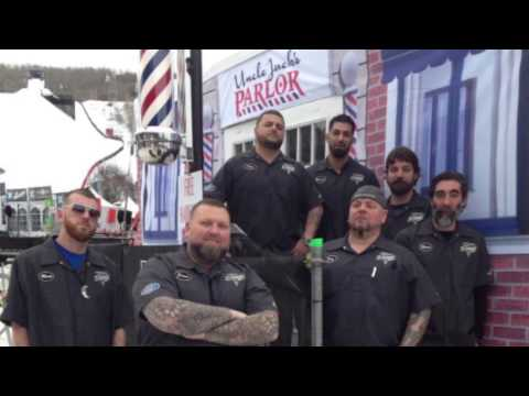 Jay Majors and Barber Authority in Aspen Colorado at the ESPN X Games 2013