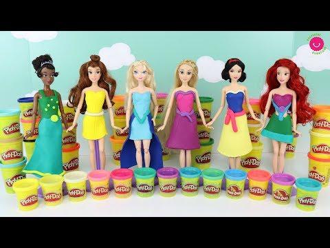 hago-vestidos-de-play-doh-para-las-muñecas-princesas-disney