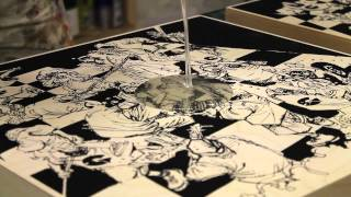 "Limited-Edition GZA Liquid Swords ""Battle Scene"" Screen Prints"