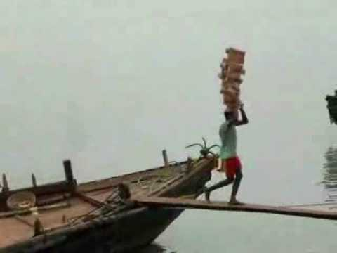 """Most Amazing in the World ( Hard Labour Guy Stacking """"20"""" Brick on His Head )"""
