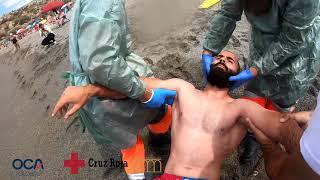 Accidente traumatismo en Playas de SALOBREÑA | Simulacro CRUZ ROJA (2021)