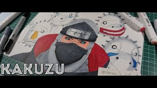 How I draw Kakuzu - Naruto Shippuden [ Speed Drawing ]