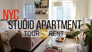 New York City Studio Apartment Tour & Rent  |  Fly With Stella