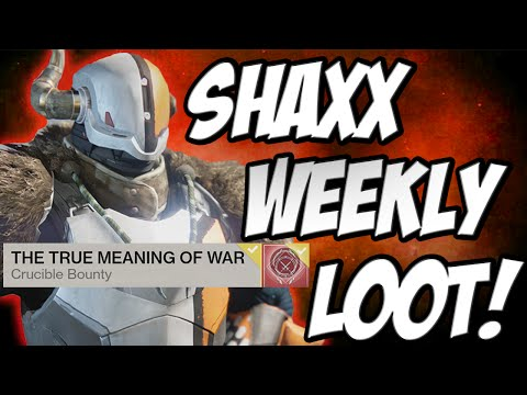 """★ Destiny - """"TRUE MEANING OF WAR LOOT UPDATE"""" """"LORD SHAXX LOOT"""" CRUCIBLE FORGED / COMBAT QUEST"""
