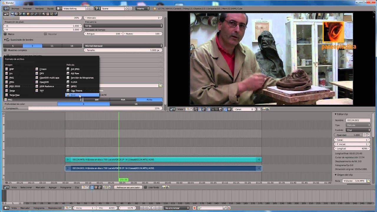 Introducción al editor de vídeo Blender y corregir desfase entre ...
