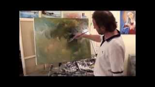 Сахаров видеоурок рисования картины маслом