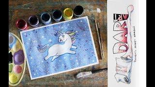 Как нарисовать единорога гуашью! #Dari Art Kids
