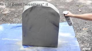 كيفية جعل الورق المقوى شواهد القبور