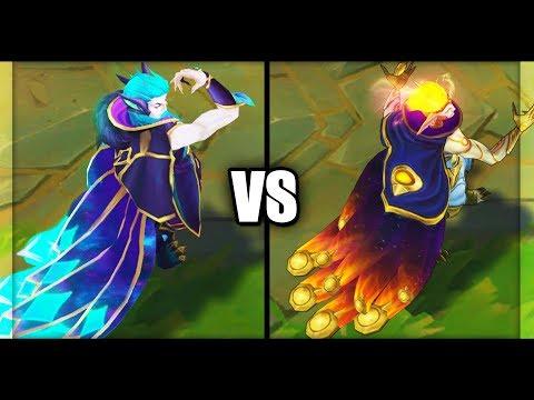 Legendary Star Guardian Rakan vs Cosmic Dawn Rakan Skins Comparison (League of Legends)
